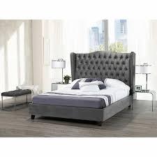 avalon grey upholstered bed
