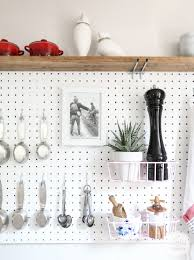 Pegboard Pegboard Kitchen Storage Inspired By Charm