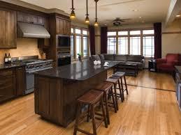 Dark Kitchen Island by Kitchen Beautiful Light Oak Floor Kitchen With Light Brown Oak