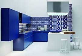 modern kitchen designs with blue cabinets sleek modern kitchen