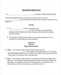 operating agreement template multimeber operating agreement 11