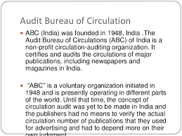 audit bureau of circulation magazine indian organisations hm