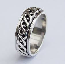 mens silver rings mens 925 sterling silver ring 8mm hallmarked heavy celtic