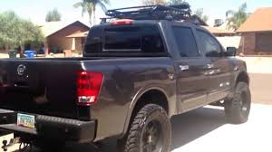 lifted silver nissan frontier 2010 nissan titan roof rack yes roof rack youtube