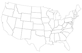 empty usa map empty united states map new blank us state in world maps