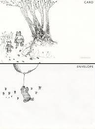 classic winnie pooh greeting card drawn dip u2026 flickr