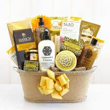 spa basket chamomile relaxation spa gift basket california delicious
