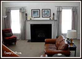 industrial chic curtains two story family room window treatments