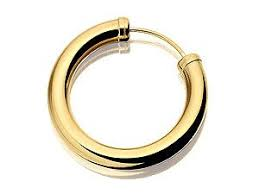 gold hoop earrings uk 9ct gold mens capped single hoop earring 20mm co uk