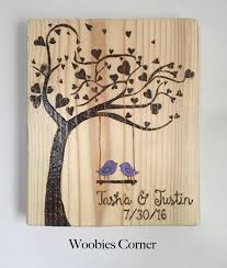 custom wedding presents custom wedding sign wood burned wedding sign wedding date sign