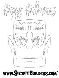 frankenstein face coloring pages hellokids
