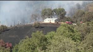 Wildfire Sacramento Area by Wildfire Burns 10 12 Acres In Calaveras County One Person Injured