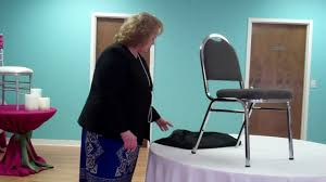 Smartseat Dining Chair Cover by How To Install A Banquet Chair Cover Youtube