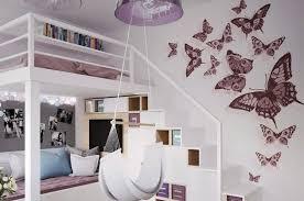 d馗oration papillon chambre fille déco murale chambre enfant papier peint stickers peinture