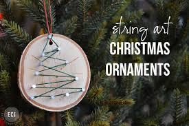 Easy Homemade Christmas Ornaments by Handmade Christmas Ornaments String Art Ornaments