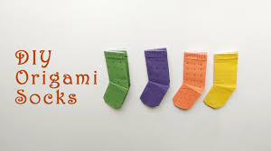 how to make origami socks diy origami paper crafts easy paper