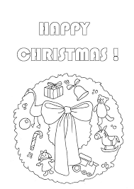 coloring christmas wreath free coloring pages for christmas