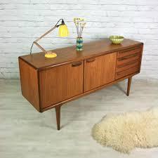 vintage 1960s younger teak sideboard mustard vintage