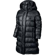 nike women s down fill hooded parka jacket black at women s