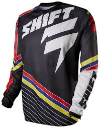 shift motocross helmets shift strike stripes jersey revzilla