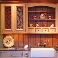 Kitchen Cabinet Inserts Decorating Interesting Kitchen Cabinet With Lumicor Panels And
