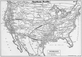 Pennsylvania Railroad Map by The Southern Pacific