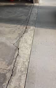 Concrete Floor Repair How To Repair Garage Floor Concrete Damage Near Apron Home