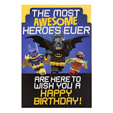 batman congratulations card hallmark lego batman medium awesome heroes birthday card