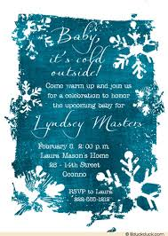 peacock baby shower winter snowflakes baby shower invitation personalized