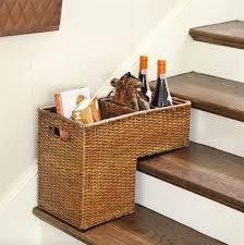 stair baskets for storage popsugar home