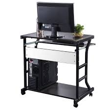 Auto Laptop Desk by Costway Desk Computer Table Home Office Furniture Workstation