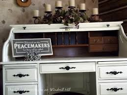 Roll Top Desk Oak The Olde Farmhouse On Windmill Hill Desk Makeover How To Update