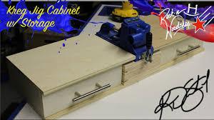 how to build base cabinets with kreg jig kreg jig cabinet w storage