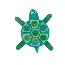 mosaic turtle magnet craft kit orientaltrading com wood crafts