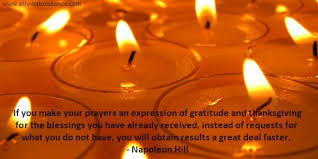 abundance quote prayers of gratitude and thanksgiving