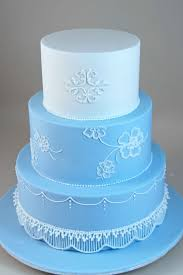 little robin 3 tier piped wedding cake