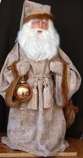 Santa Claus Dolls Handmade - 12 handmade santa claus doll fur coat doll by inhattiesattic