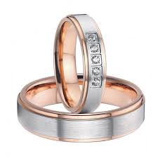 wedding ring sets for him and cheap 2015 beautiful gold color titanium steel wedding bands