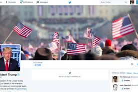 Obama No American Flag Trump U0027s New Twitter Account Included A Great Inauguration Pic