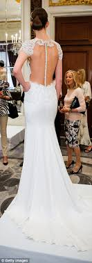 sexey wedding dresses new trend sees brides to be donning and see through wedding