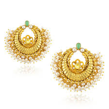 temple design gold earrings amrapali jewels