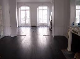 black wood flooring
