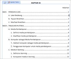 membuat daftar isi table of contents di word 2007 daftar isi tire driveeasy co