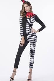 clown jumpsuit black checkered clown jumpsuit costume