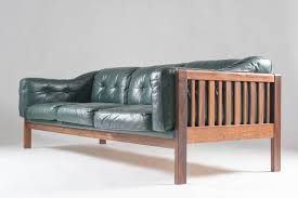 Next Leather Sofas by Scandinavian Rosewood And Green Leather Sofa Ingvar Stockum