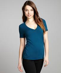 fluxus peacock blue stretch jersey knit u0027perfect u0027 t shirt