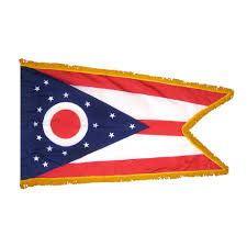 Colonial Flag 3 Ft X 5 Ft Indoor And Parade Colonial Nyl Glo Ohio Flag With