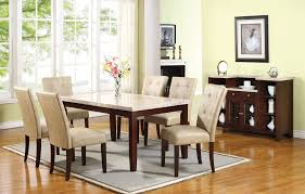 Marble Top Dining Room Table Sets Gorgeous White Marble Top Dining Table Set Pu Leather Chairs