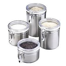 kitchen canister sets stainless steel canisters jars with free shipping canisters sears