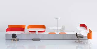 Futuristic Computer Desk Inspiring White And Orange Color For Futuristic Computer Desk And